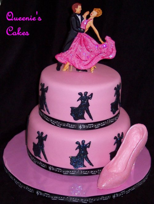 Dancing Themed Wedding Cake