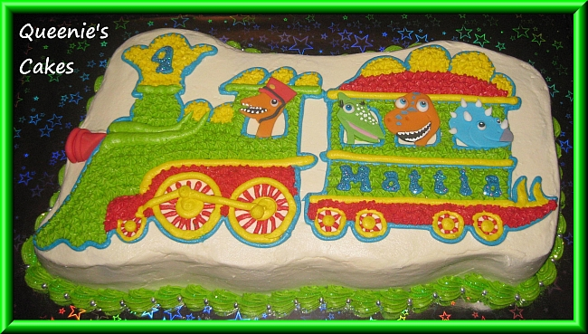 Strange Dinosaur Train Queenies Cakes Funny Birthday Cards Online Alyptdamsfinfo