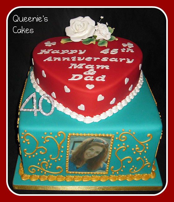 Joint 40th Birthday Amp Anniversary Cake Queenies Cakes