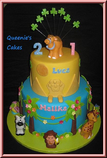 Luca Amp Malika S Joint Birthday Cake Queenie S Cakes