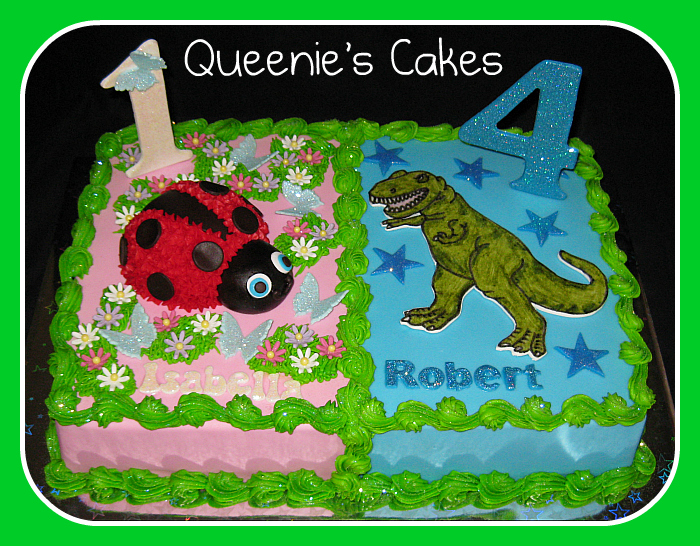 Brother amp sister joint birthday Queenies Cakes