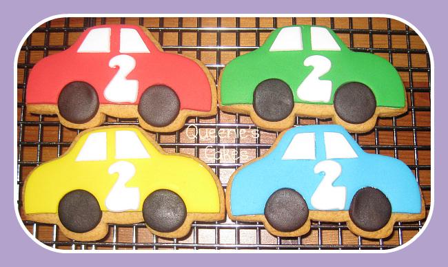 2nd Birthday Car Cookies Queenie S Cakes